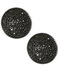 Nest - Pave Stud Earrings - Lyst