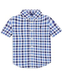 Ralph Lauren - Boy's Plaid Stretch Collared Shirt - Lyst