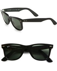 09dad384e9 Lyst - Ray-Ban Polarized Original Wayfarer Sunglasses in Black for Men