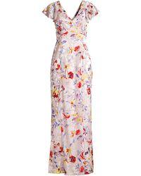 Parker Black Lielle Floral Gown - Multicolor