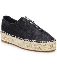 Alexander Wang - Devon Leather Zip-front Espadrille Sneakers - Lyst