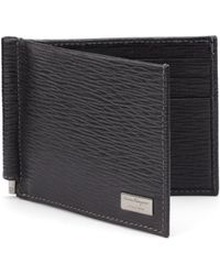 Ferragamo - Revival Textured Leather Money-clip Bifold Wallet - Lyst
