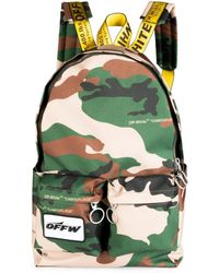 Off-White c/o Virgil Abloh - Camouflage Textured Backpack - Lyst