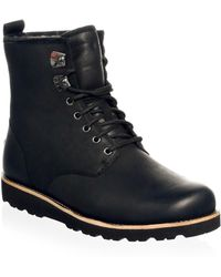 UGG - Hannen Pure-lined Leather Combat Boots - Lyst