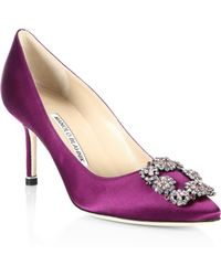 Manolo Blahnik - Ornamented Court Shoes - Lyst