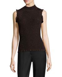 MILLY | Italian Stardust Sleeveless Sweater | Lyst