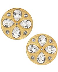 Rebecca de Ravenel Pamina 24k Goldplated & Swarovski Crystal Stud Earrings - Metallic