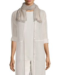 Eileen Fisher - Fringed Wrap - Lyst