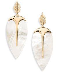 Aurelie Bidermann - Talitha Mother-of-pearl Drop Earrings - Lyst