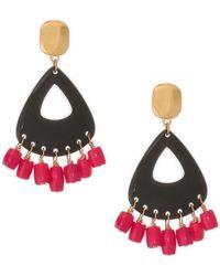 Nest - Coral & Horn Drop Earrings - Lyst