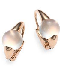 Pomellato - M'ama Non M'ama Moonstone & 18k Rose Gold Cabochon Earrings - Lyst