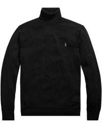 Polo Ralph Lauren Merino Wool Turtleneck Sweater - Black