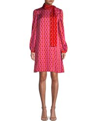 Beatrice B. - Tie-neck Graphic Print Shift Dress - Lyst