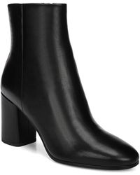 Diane von Furstenberg - Robyn Leather Striped Heel Booties - Lyst