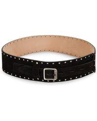 Rag & Bone Field Waist Leather Belt - Black