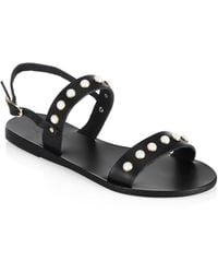Ancient Greek Sandals - Clio Pearls Leather Sandals - Lyst