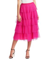 RED Valentino - Tulle Tiered Midi Skirt - Lyst
