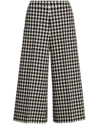 Gucci Houndstooth Culotte Pants - Black