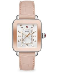 Michele Deco Sport Two-tone Pink Gold Watch