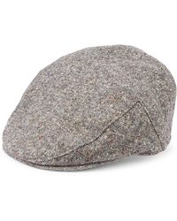 57a5227db4e Saks Fifth Avenue - Men s Collection Tweed Ivy Cap With Ear Flaps - Grey -  Size