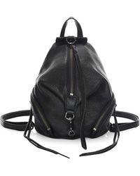 Rebecca Minkoff Mini Julian Leather Backpack - Black