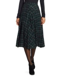 Akris Punto - Brit Check Midi Skirt - Lyst