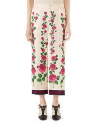 Gucci Silk Twill Pajama Trim Pants - Multicolor
