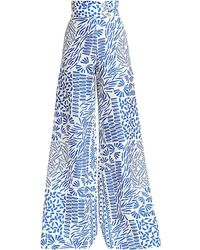 Alexis Neassa High-waist Wide-leg Pants - Blue