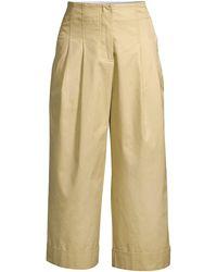 Rebecca Taylor Compact Twill Pants - Natural