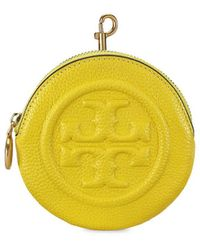Tory Burch Perry Bombé Leather Key Pouch - Yellow