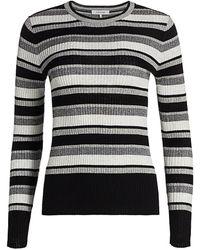 FRAME Panel Stripe Knit Top - Multicolor