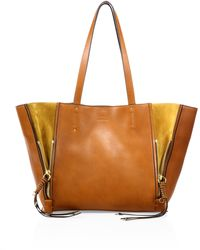 Chloé - Milo Leather & Suede Tote - Lyst