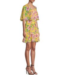 BCBGMAXAZRIA - Mabel Floral Crepe Dress - Lyst
