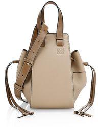 Loewe Small Leather Hammock Bag - Natural