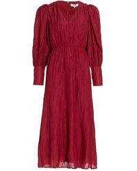 Sea Tessa Long-sleeve Midi Dress - Red
