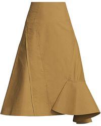 3.1 Phillip Lim Bonded Ruffle Hem Midi Skirt - Multicolor