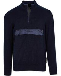 Barbour Cartfile Half-zip Sweater - Blue