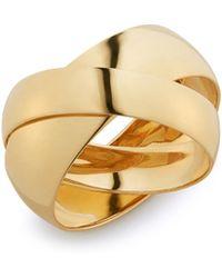Lana Jewelry - Curve Double Interlocking Ring - Lyst