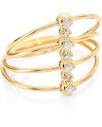 Mizuki - Diamond & 14k Yellow Gold Four-band Ring - Lyst