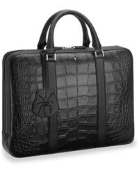 Montblanc - Embossed Leather Document Case - Lyst