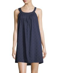 Saks Fifth Avenue - Collection Cotton Dot Chemise - Lyst