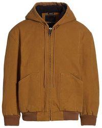 R13 Oversized Workwear Bomber Jacket - Brown