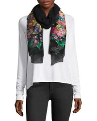 Etro - Couped Multi Floral Sheer Scarf - Lyst