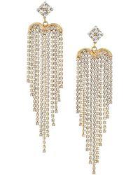 Rosantica Graffiti Crystal Chandelier Earrings - Metallic