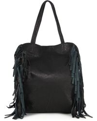 Mr. - Thomas Fringed Leather Tote - Lyst