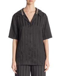 Alexander Wang - Striped Pyjama Trousers - Lyst