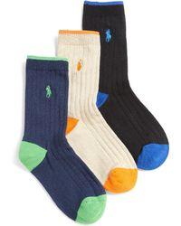 Ralph Lauren - Boy's Ribbed Dress Socks/3-pack - Lyst