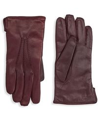 Saks Fifth Avenue - Collection Touch Leather Gloves - Lyst