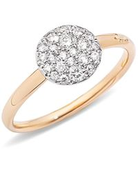 Pomellato - Sabbia Diamond & 18k Rose Gold Small Ring - Lyst