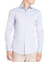 Brunello Cucinelli - Slim-fit Cotton Button-down Shirt - Lyst